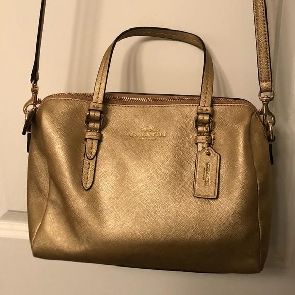 Coach Handbags - Gold colored Coach bag a509af4dffab6